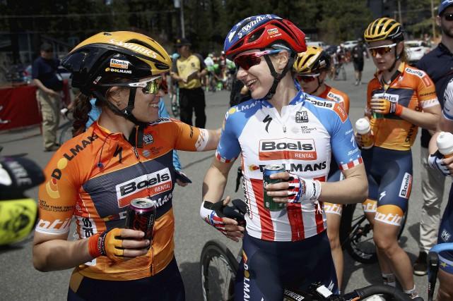 Karol-Ann Canuel (à gauche) a remporté le de... (Archives, Agence France-Presse)