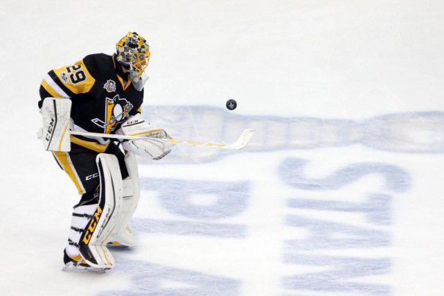 Marc-André Fleury sera-t-il devant le filet des Penguins,... (Photo Charles LeClaire, USA TODAY Sports)