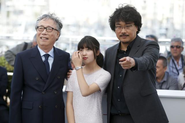 Les acteurs Byung Heebong et Ahn Seo-Hyun en... (AP, Alastair Grant)