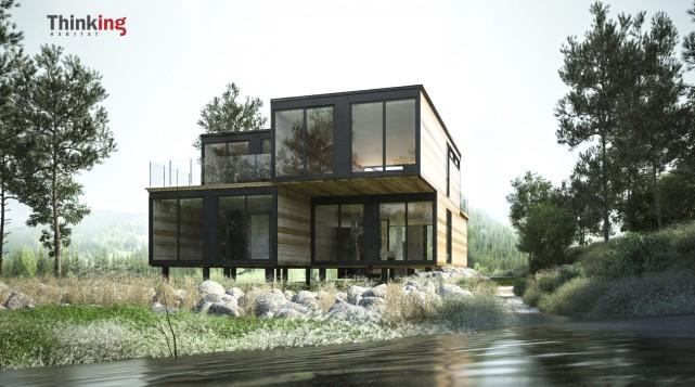 Construites sur des pieux visés enfoncés profondément dans... (Thinking Habitat)