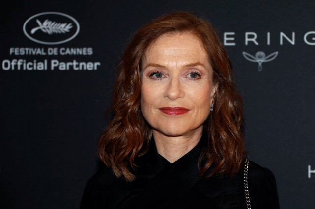 Isabelle Huppert à Cannes, vendredi, au rendez-vous «Women... (Photo Eric Gaillard, REUTERS)