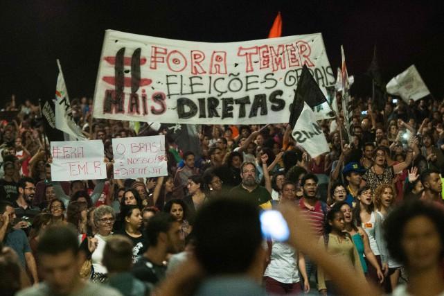 Le président brésilien Michel Temer est accusé d'avoir... (Photo Andressa Anholete, AFP)