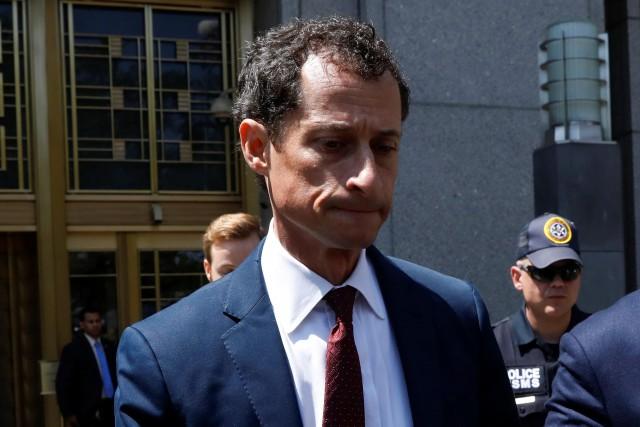 La chute d'Anthony Weinera été une vraie saga... (PHOTO REUTERS)