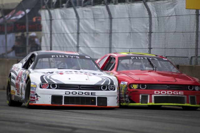Les pilotes de la série NASCAR Pinty's, se... (Olivier Croteau)