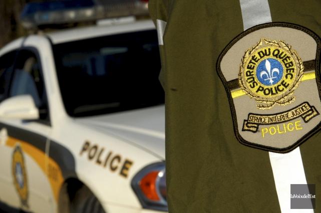 Les policiers de la Sûreté du Québec sont... (Photo Archives La Voix de l'Est)