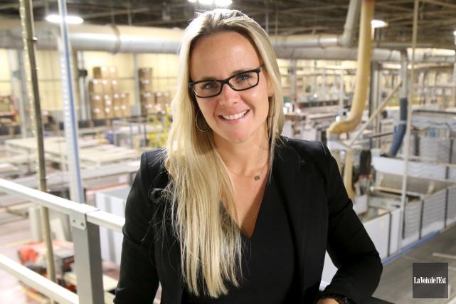 Nadia Bourgeois, vice-présidente administration chez Fabritec.... (Janick Marois, archives La Voix de l'Est)