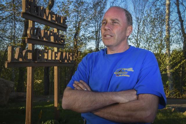 Jean-Luc Bellemare, propriétaire du camping du lac Bellemare,... (François Gervais)