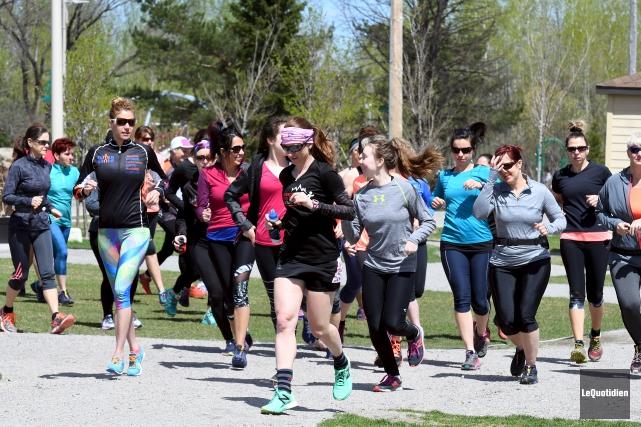 La première édition du Trail au féminin avait... (Photo Le Quotidien, Rocket Lavoie)