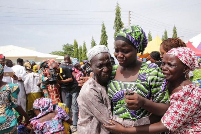 L'émotion était palpable à Abuja, au Nigeria, alors... (AFP)