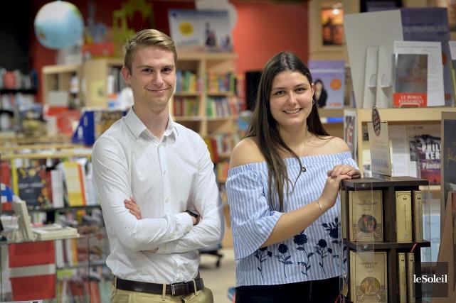 Jérémie Bédard et Michelle Lemelin sont très heureux... (Le Soleil, Pascal Ratthé)