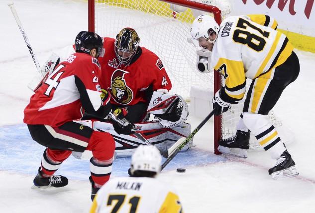 Sidney Crosby a marqué un but et s'est... (La Presse canadienne, Sean Kilpatrick)