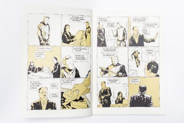 Dans le récit de l'auteur Fabcaro, le crime... (Photo Edouard Plante-Fréchette, archives La Presse)