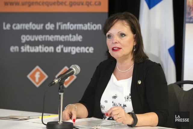 La ministre Lucie Charlebois a indiqué dimanche que... (PHOTO ROBERT SKINNER, LA PRESSE)