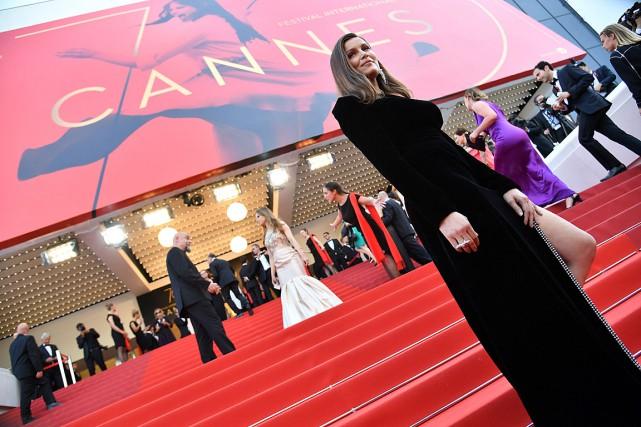 Laetitia Casta... (Photo Alberto PIZZOLI, Agence France-Presse)
