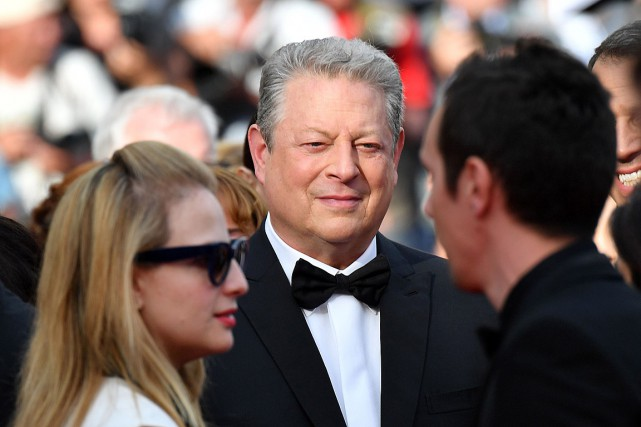 Al Gore à Cannes, le 22 mai.... (PHOTO Alberto PIZZOLI, AGENCE FRANCE-PRESSE)