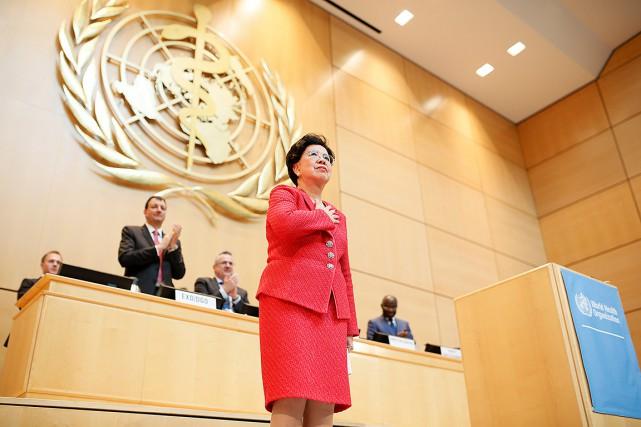 Margaret Chan, après son dernier discours devant l'Organisation... (Pierre Albouy, REUTERS)
