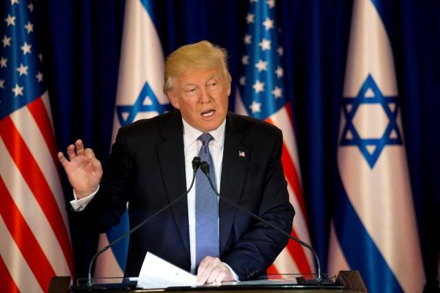 Le président américain Donald Trump a évoqué un... (Photo Ariel Schalit, Reuters)