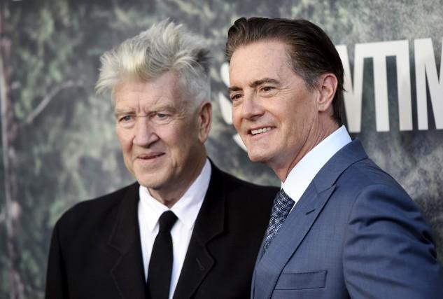 Le réalisateur David Lynch et le comédien Kyle... (AP, Chris Pizzello)