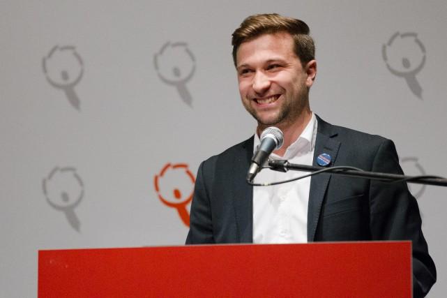 Le nouveau porte-parole Gabriel Nadeau-Dubois souligne que QS... (PHOTO NINON PEDNAULT, LA PRESSE)