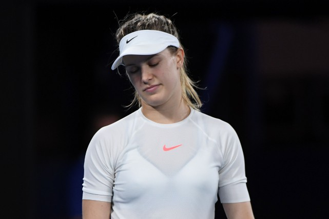 Eugenie Bouchard serait toujours ennuyée par une blessure... (Photo WILLIAM WEST, archives AFP)