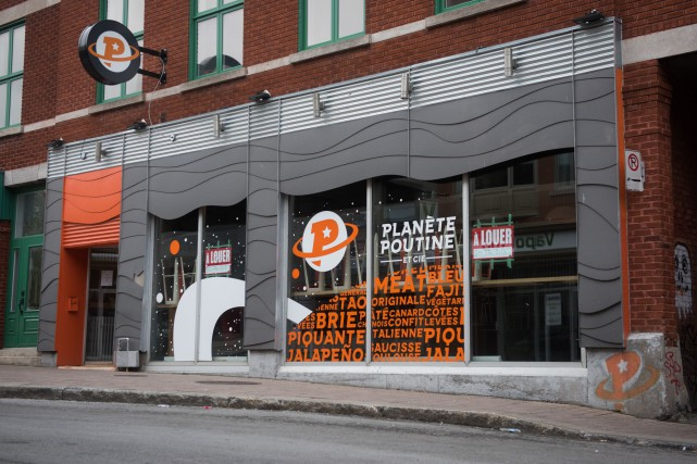 Le local abritant jadis le restaurant Planète Poutine... (François Gervais, Le Nouvelliste)