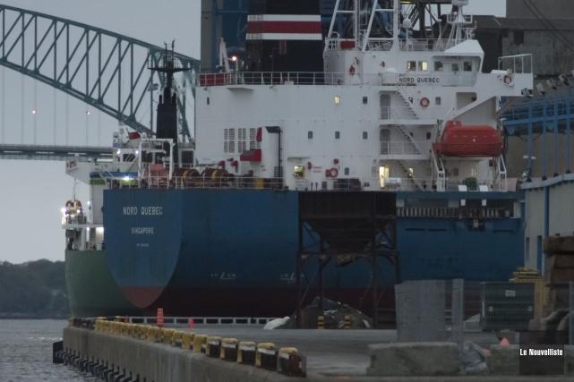 L'accident est survenu sur le navire Nord Québec... (Stéphane Lessard, Le Nouvelliste)
