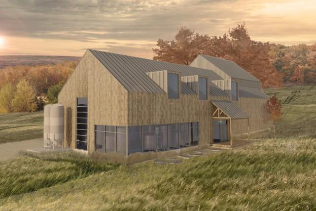 La construction d'une microbrasserie àCookshirefranchit un pas de plus.... (Photo tirée de Facebook)