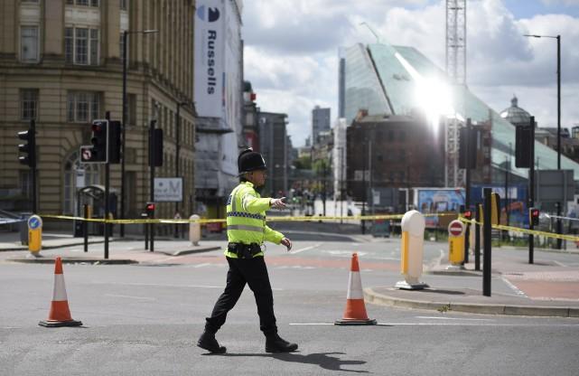 La sécurité avait été relevée près de l'Aréna... (AFP, Oli SCARFF)
