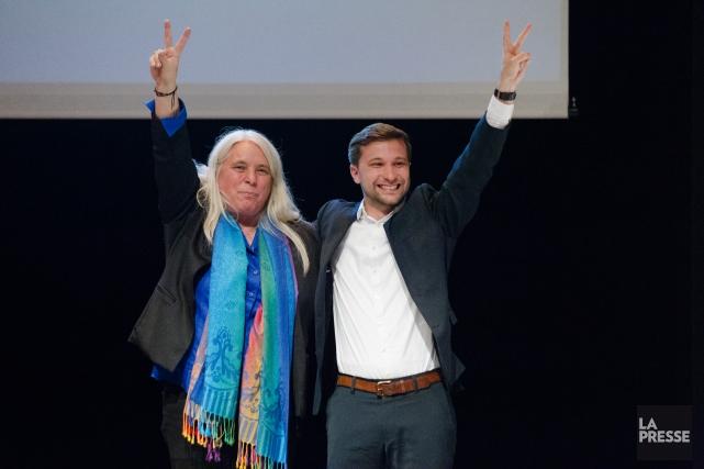 Manon Massé et Gabriel Nadeau-Dubois lors du congrès... (Archives La Presse)