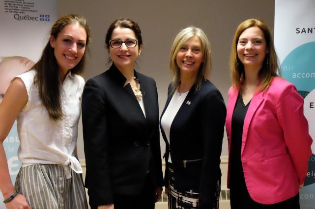 Sabrina Dufour, orthopédagogue, Lucie Bégin, vice-présidente régionale de... (Alain Dion)