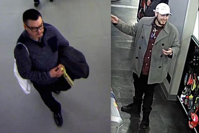 Selon le Service d'Ottawa,les deux individus recherchés ont... (Courtoisie, Service de police d'Ottawa)