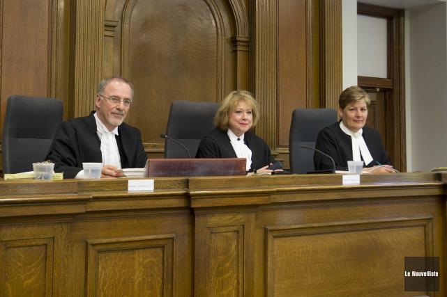 Les trois juges de la Cour d'appel qui... (Sylvain Mayer, Le Nouvelliste)