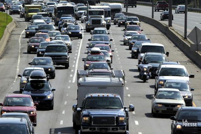 Un accident de la route a forcé la fermeture presque complète de l'A15 Nord à... (Archives La Presse, Bernard Brault)