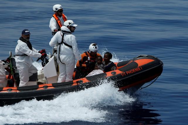 Au total, une quinzaine d'opérations de secours étaient... (Photo Darrin Zammit Lupi, REUTERS)