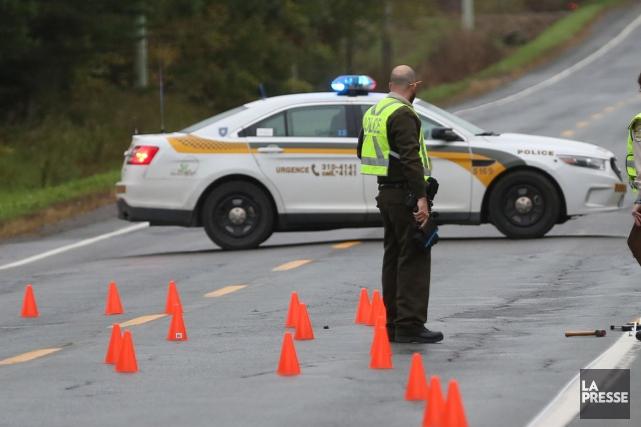 Un homme est mort et un autre a été grièvement blessé dans un accident de la... (Archives La Presse)