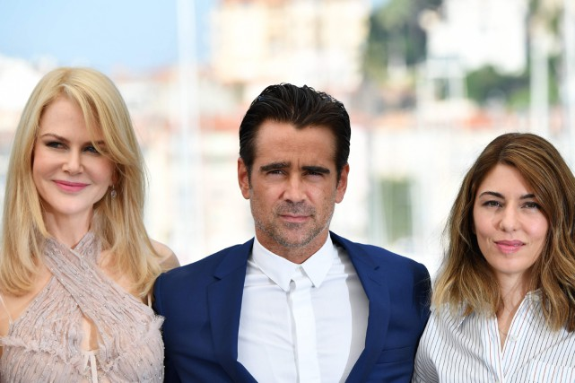 Nicole Kidman, Colin Farrell et Sofia Coppola ont... (PHOTO AFP)