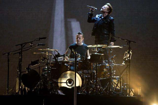 U2 a profité d'un passage à la télévision... (PHOTO AP)