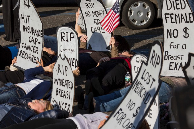 La précédente réforme républicaine du système de santé... (AFP, Dominick Reuter)