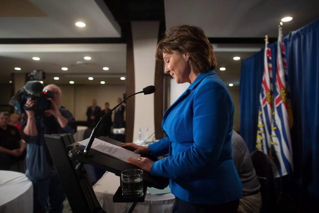 La première ministre Christy Clark affirme qu'avec une... (ARCHIVES PC)