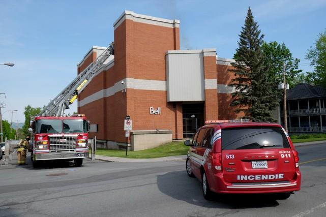 Un passant a contacté le Service des incendies... (Alain Dion)