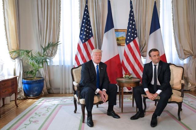 Le président des États-Unis, Donald Trump, recontrait le... (Mandel Ngan, AFP)