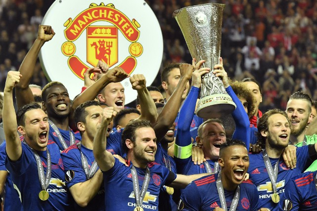 Manchester United a remporté la Ligue Europa, mercredi.... (Photo Martin Meissner, AP)
