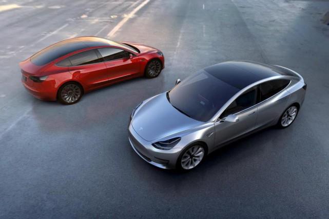 La Model 3 deviendra la berline d'entrée de... (PHOTO FOURNIE PAR LE CONSTRUCTEUR)