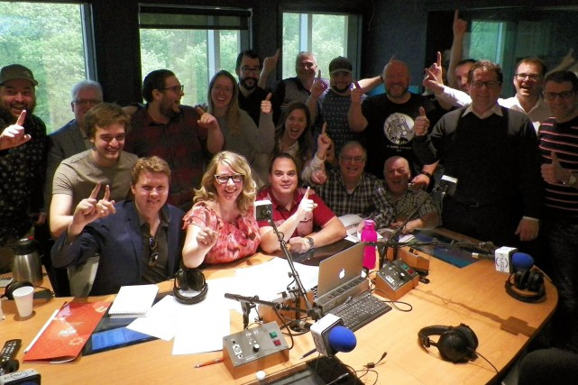 L'équipe du FM93 a célébré sur Twitter... (Tirée de Twitter)