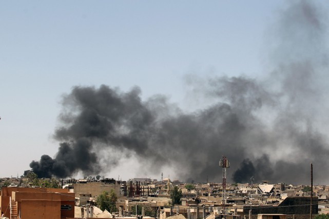 Au moins 105 civils ont été tués en mars lors d'un bombardement américain à... (Photo Ahmad Al-Rubaye, archives Agence France-Presse)