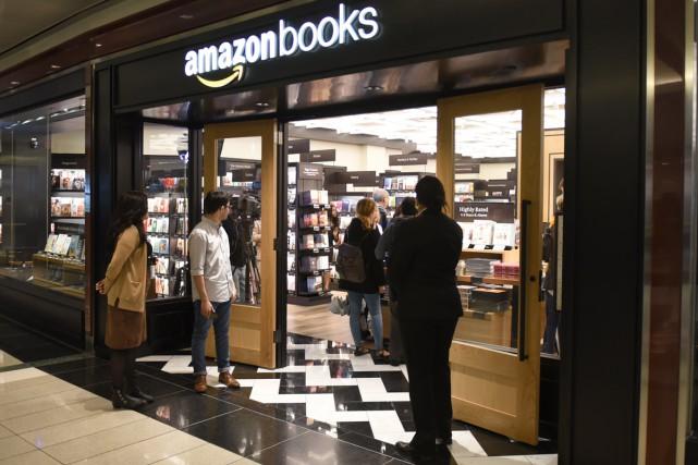 Cette première boutique d'Amazon dispose d'un emplacement de... (PHOTO AFP)