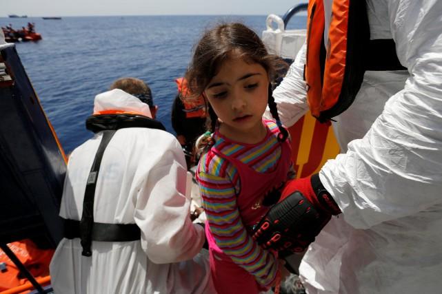 Opération de secours enMéditerranée à bord du Phoenix,... (ARCHIVES REUTERS)
