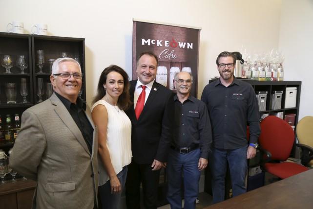 La Cidrerie McKeown a obtenu une contribution financière de 188 000$ de la part... (Janick Marois)