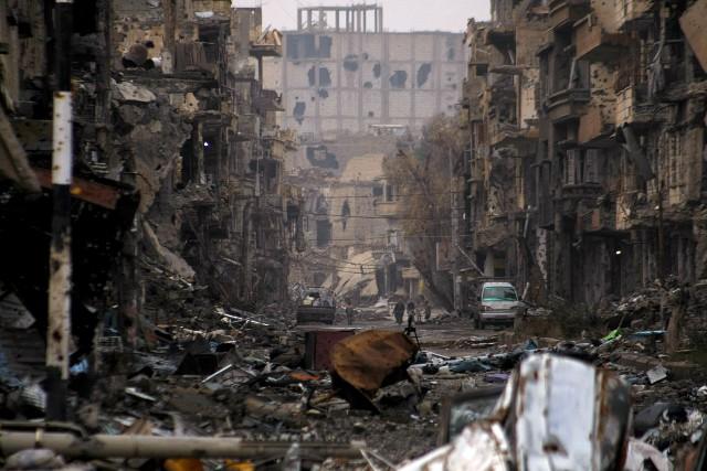 Les frappes ont visé des immeubles d'habitation à... (ARCHIVES AFP)