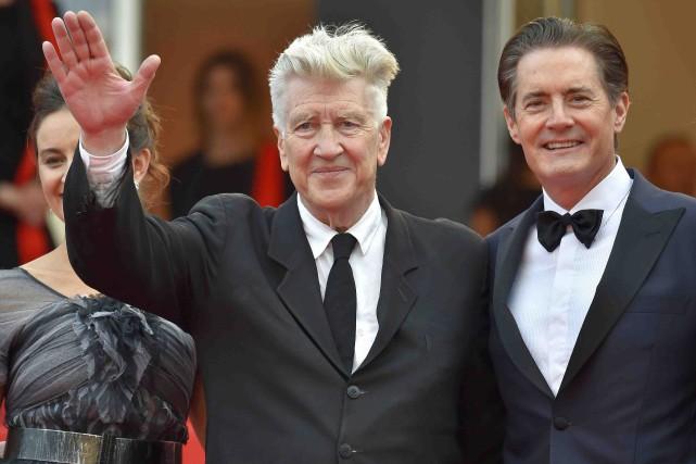 Le réalisateur David Lynch et l'acteur-vedette de Twin... (AFP, Loïc Venance)